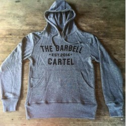 Classic Logo Hoodie ( Unisex ) Heather Gray - Barbell Cartel