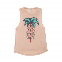 """Lift In Paradise"" Muscle Tank Femme - Lifting Culture"