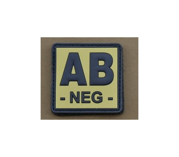 PVC Patch Gruppo Sanguigno AB Negativo TAN - Les patchs