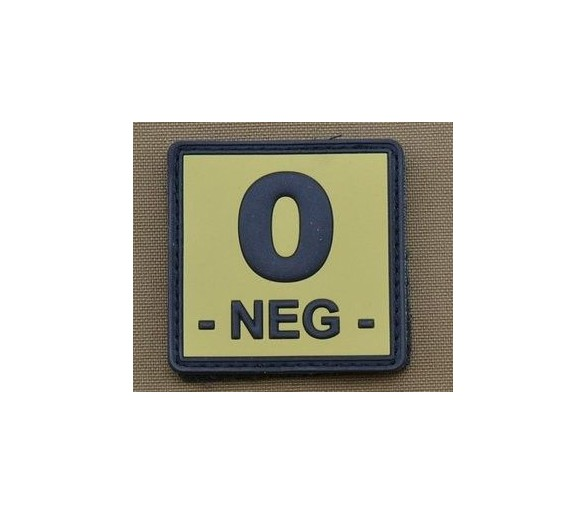 PVC Patch Gruppo Sanguigno O Negativo TAN - Les patchs
