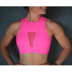Brassière CHESTEE The Tiffany Neon Pink protège clavicule