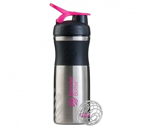 SportMixer® Stainles 820ml Black/Pink - Blender Bottle