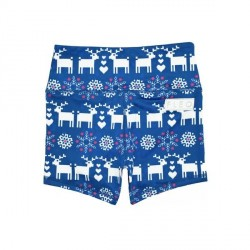Booty Short Christmas Stitch Blue - Fleo