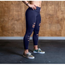 DISTRESSED 7/8 CORE LEGGINGS Women - Barbell Cartel