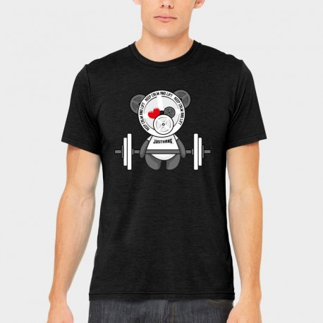 T-shirt Man Panda Lift (Black)  - Justhang