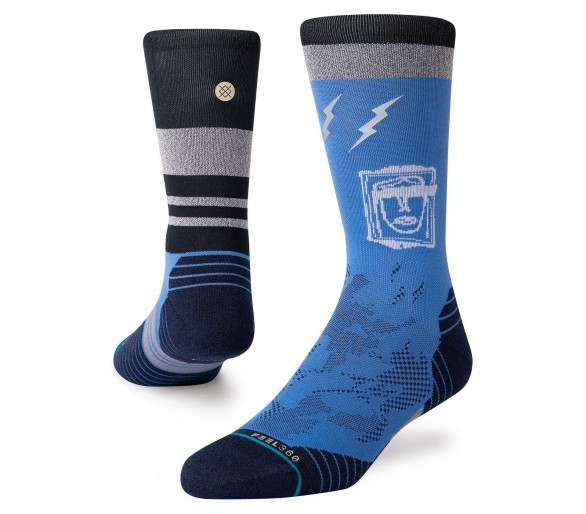 Calcetines Run Shatter Crew (Blue) - Stance