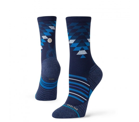 Chaussettes Run Slithering Crew (Blue) - Stance