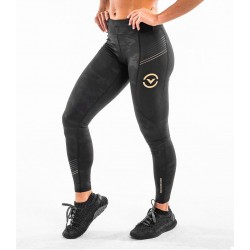 Legging Compression Femme EAu7.5 Bioceramic (Black/Gold) - Virus