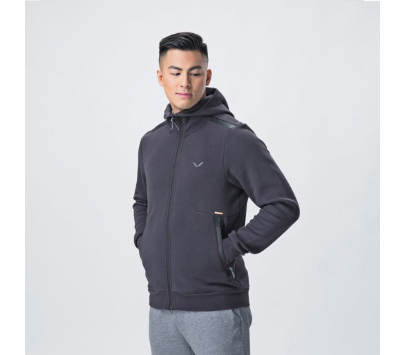 Veste Homme Focus Hood (Strong Grey) - Eleiko
