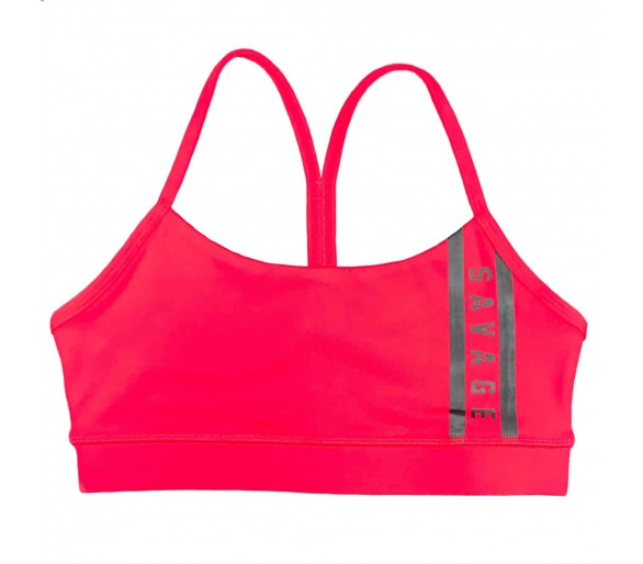 Viper Squad (Red Striped) Sports Bra - Savage Barbell