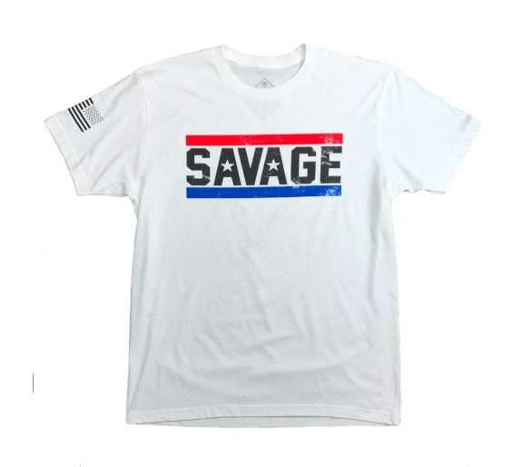 T-Shirt Homme Red, White, Blue -  Savage Barbell