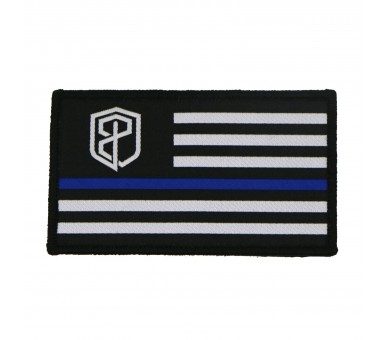 Patch Born Primitive Velcro Flag Patch (Thin Blue Line Edition)