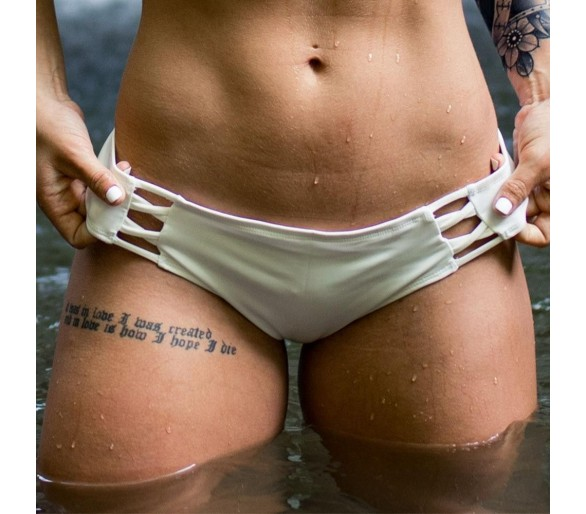The Primitive Bikini Bottoms (White) - Born Primitive