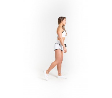 Varsity Booty Short (White) - Savage Barbell