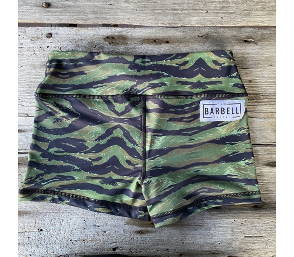 Booty Short Comp Short 2.0 (Jungle) - Barbell Cartel