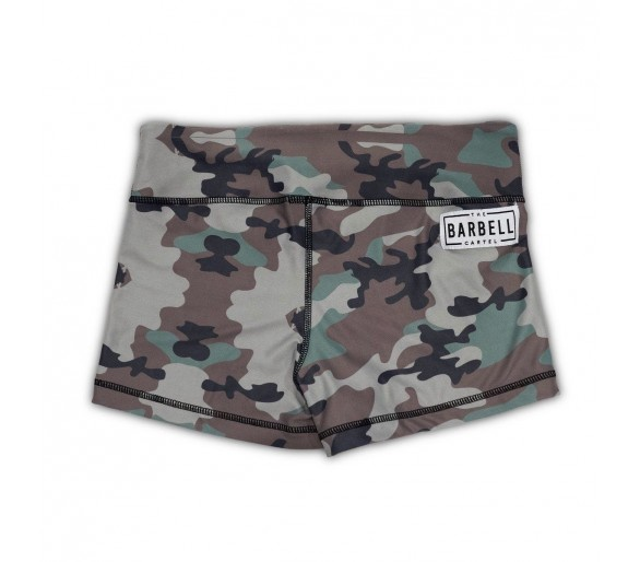 Booty Short Comp Short 2.0 (Woodland) - Barbell Cartel