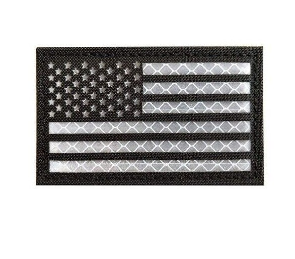 "Patch Tissus ""USA Flag Reflective"" - Wodabox"