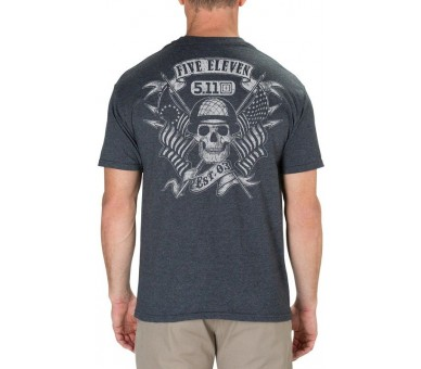 T-Shirt Homme Banners And Bayonets (Charcoal) - 5.11 Tactical