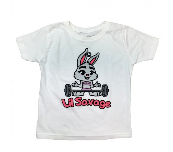 Child Lil Savage Bonnie T-shirt - Savage Barbell