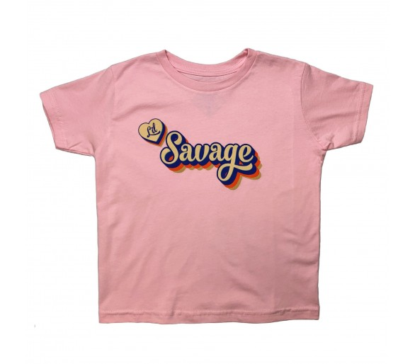 T-shirt Enfant Lil Savage Heart - Savage Barbell