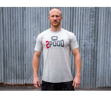 Men's 2pood Logo T-shirt (Cream Sueded) - 2POOD