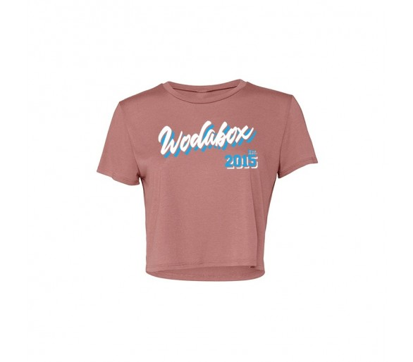 Crop Tee Woman Miami (Mauve) - Wodabox