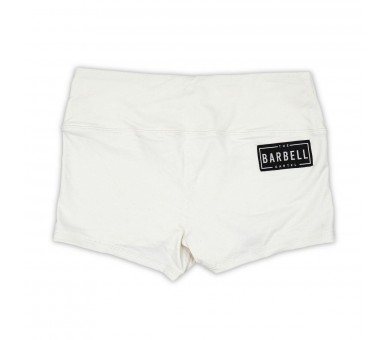 Booty Short Comp Short 2.0 (White) - The Barbell Cartel