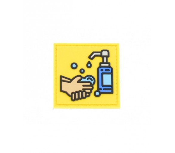PVC Patch Covid-19 Wash Your Hands - Les Patchs