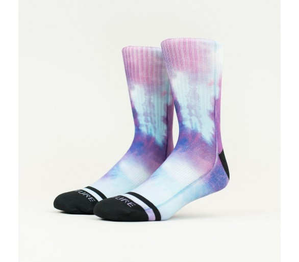 PURPLE RAIN TIE DYE Socks - Wodable