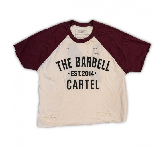 T-shirt Classic Logo Distressed Baseball - The Barbell Cartel