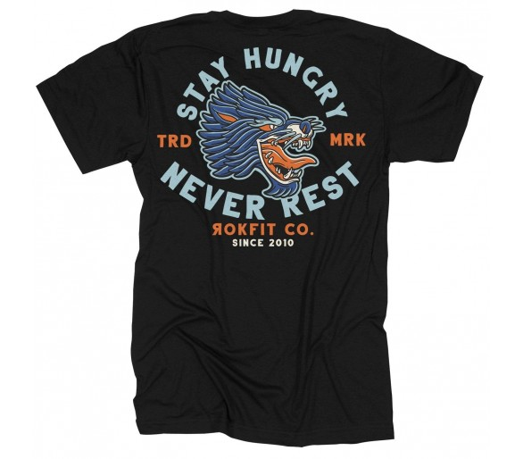 "Unisex T-shirt ""Stay Hungry, Never Rest"" - Rokfit"