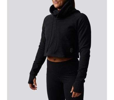 Crop hoodie Woman Cowl at The Half Moon - Born Primitive