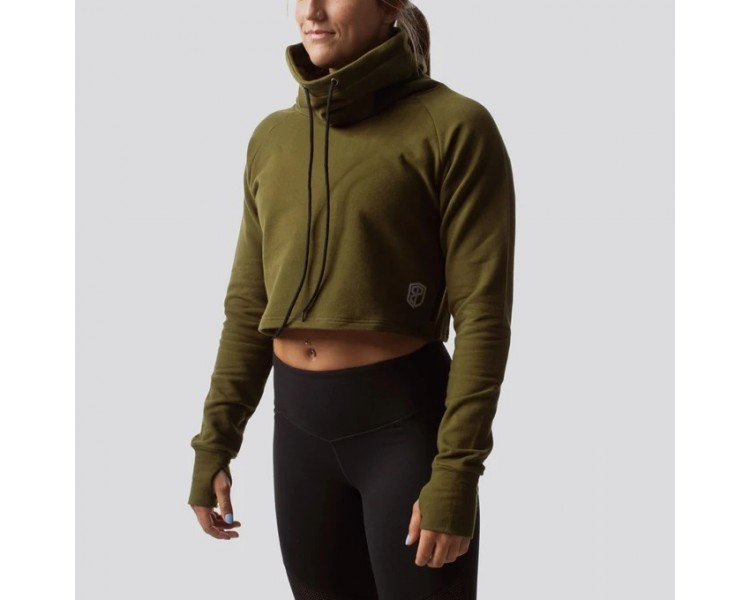 Crop hoodie Femme Cowl at The Half Moon - Born Primitive