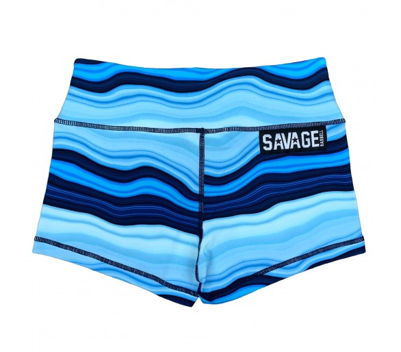 Women's Booty Short (Blue Marble) - Savage Barbell