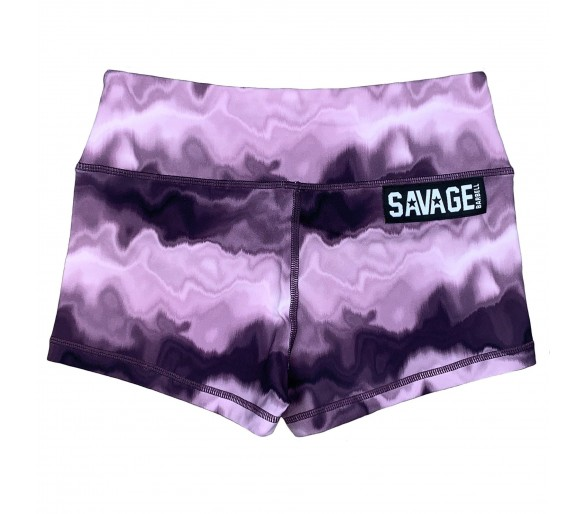 Women's Booty Short (Purple Hippie) - Savage Barbell