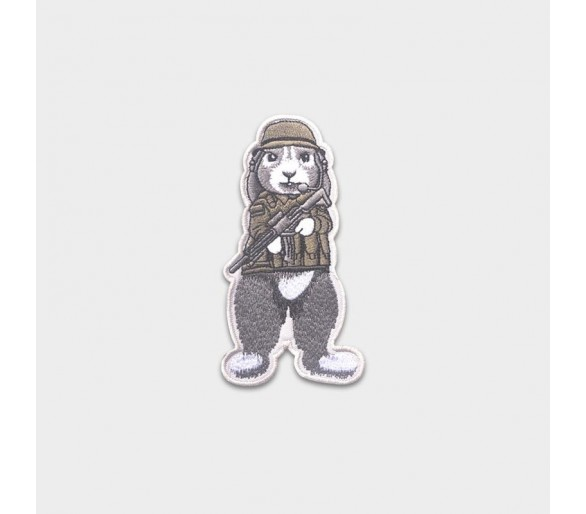 """Patch Tissus """"Lapin Militaire"""" - Justhang"""