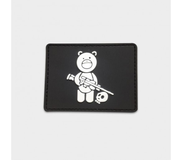 """Patch PVC """"Ourson Militaire"""" - Justhang"""