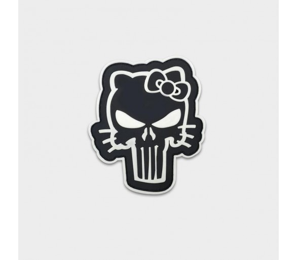 """PVC Patch """"Punisher Kitty"""" - Justhang"""