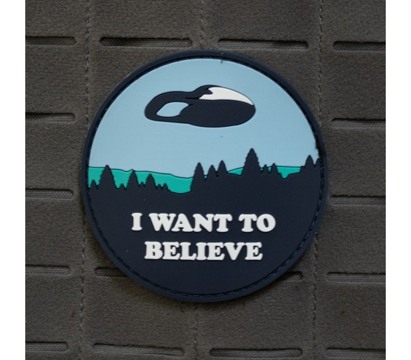 """Patch PVC """"I Want To Believe"""" - Les Patchs"""