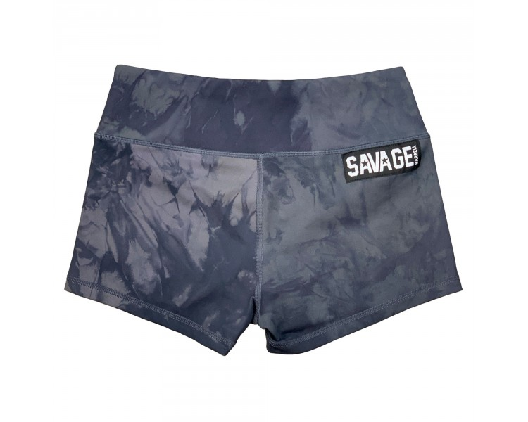 Booty Short (Black Tie and Dye) Savage Barbell - 1