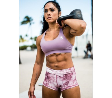 Booty Short Femme (Mauve Tie and Dye) Savage Barbell - 3