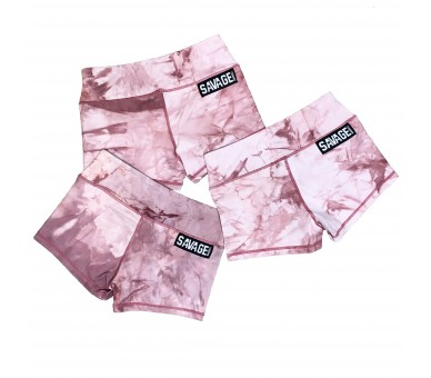 Booty Short Femme (Mauve Tie and Dye) Savage Barbell - 6