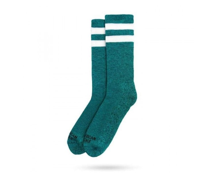 Chaussettes Turquoise noise- Mid High American Socks - 1