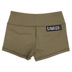 Booty Shorts Women (Army) Savage Barbell