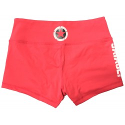 Booty Shorts Women (Red) Savage Barbell