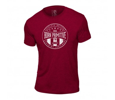 Athlete Driven T-Shirt (Heather Maroon) - Born Primitive