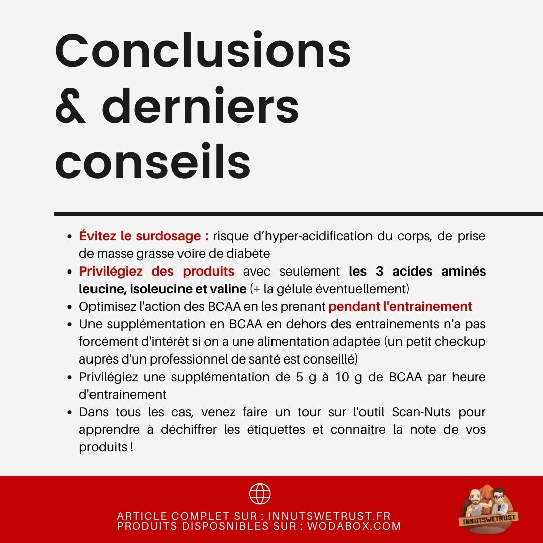 BCAA conclusions
