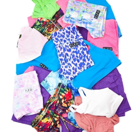 With @fleo If summer was a color, it'd be all of these 💙💗💚💜  Which one is your favourites ?  #wodabox #fleoshorts #fleo